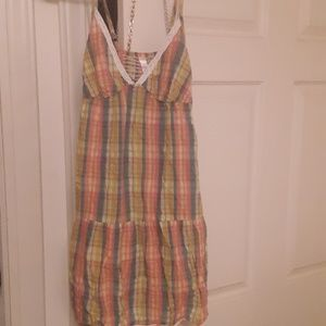 Pastel plaid summer dress